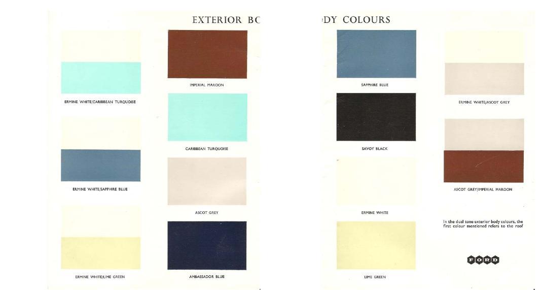 Consul Classic Capri Colour Chart