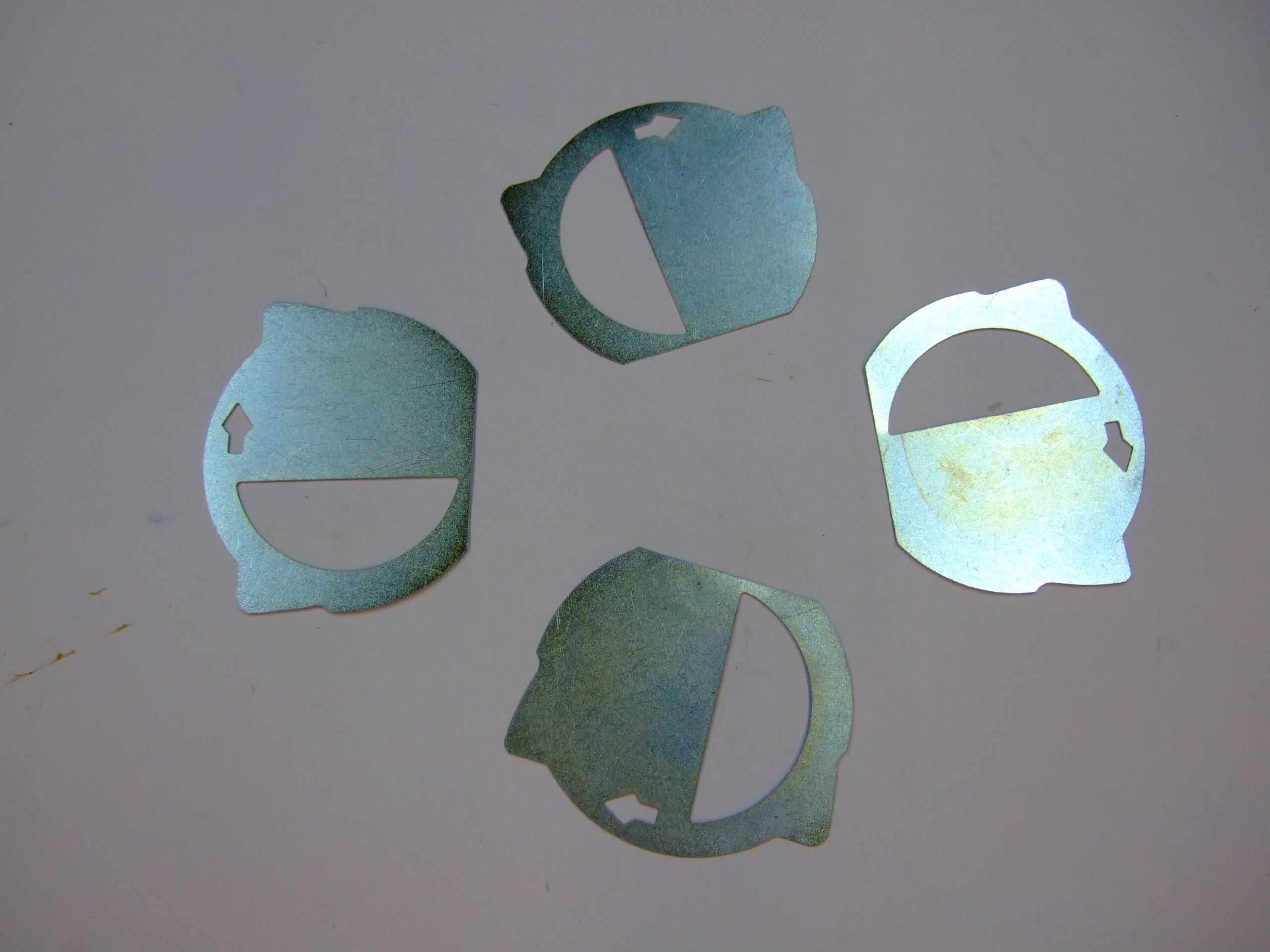 Brake pad anti-squeal shims
