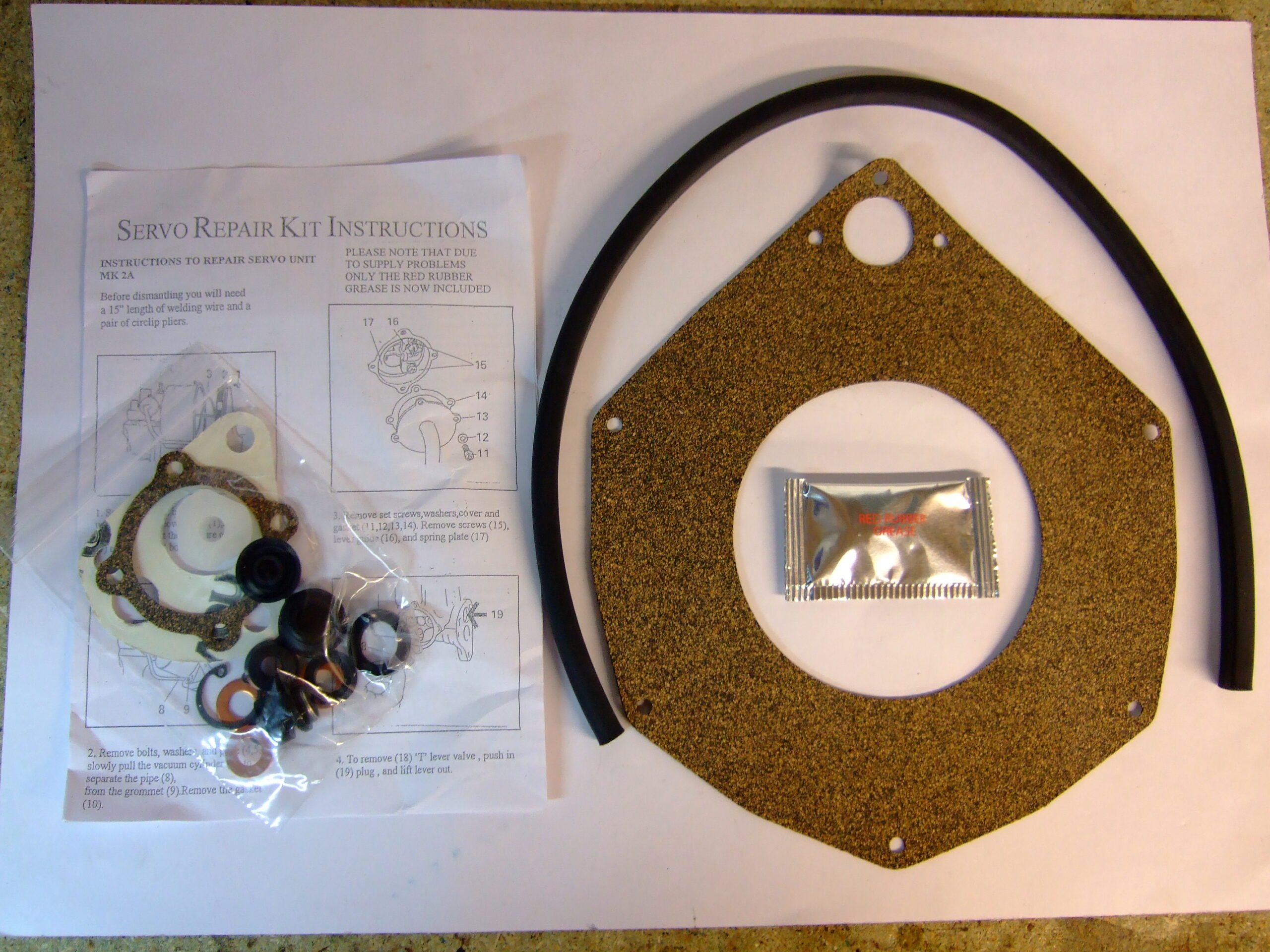 GT Brake Servo Repair Kit